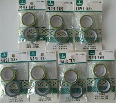 Paper Tape Washi Sticky Masking Adhesive Craft Decorative K & Company/Studio 112 (Wholesale Washi Tape)