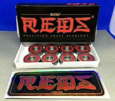 BONES REDS Bearings 8mm  608  Skateboard Bearings - 8 pack -- factory sealed BOX
