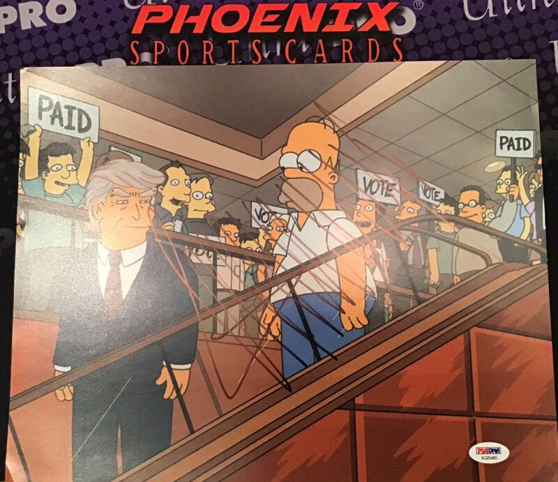 Donald Trump Signed Autographed 11x14 Rare Simpsons Photo PSA  45th President
