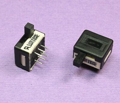 2pcs Apem Tiny Right. Angle Slide Switch On-on Dpdt Flame Retardant 4a 125vac