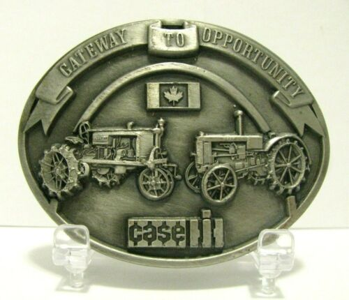 Case L & IH Farmall Regular Tractors Belt Buckle 1987 Parts Trade Fair LE Canada