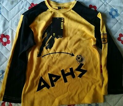 ARIS THESSALONIKI KIDS LONG SLEEVE SHIRT 6 BRAND NEW WITH TAGS OFFICIAL STORE image