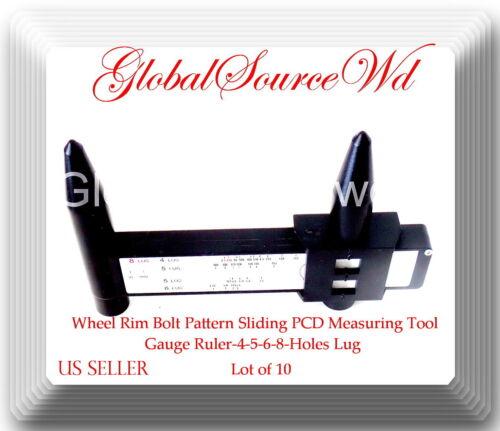 Wheel Rim Bolt Pattern Sliding PCD Measuring Tool Gauge Ruler-4-5-6-8-Holes Lug
