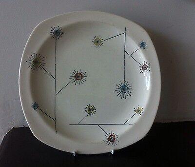 "Midwinter Stylecraft: Flowermist by Jessie Tait: Side/Salad Plate: 9"" Diagonal"