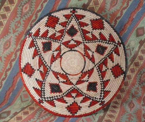 Southwestern Style Basket  Double Star Bowl Basket Wall or Table over 14 inches