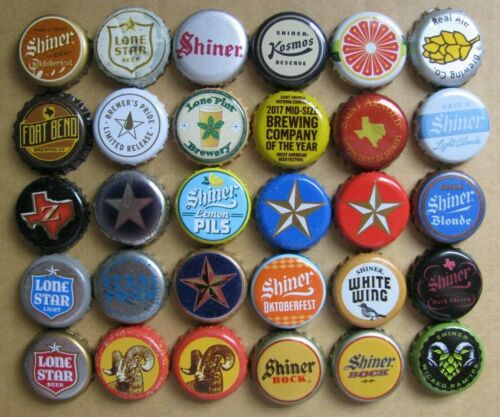 30 DIFFERENT TEXAS BREWS CURRENT/OBSOLETE MICRO CRAFT BEER BOTTLE CAPS LOT #2