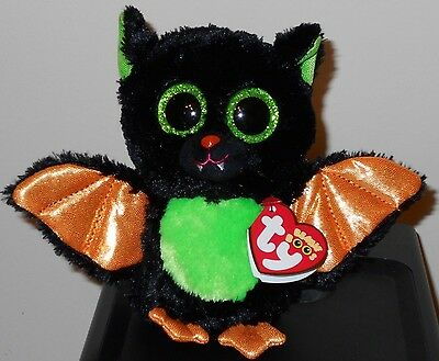 Ty Beanie Boos - BEASTIE the Halloween Bat (6 Inch) NEW MWMT