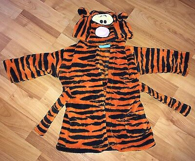 Baby's Dressing Gown Age 0-6months.Disney.Tigger.long Sleeves.hooded.George.Tie