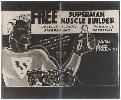 """SUPERMAN MUSCLE BUILDER"""" PREMIUM PROTOTYPE ORIGINAL ART & STAT Unique 吳衛龍"""