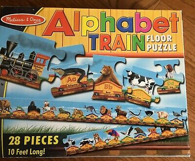 28 Piece Floor Puzzle Melissa & Doug Alphabet Train