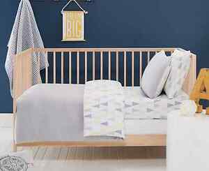 6 piece Baby Boys Alexander Cot Cover Quilt & Sheet Set Designers Choice