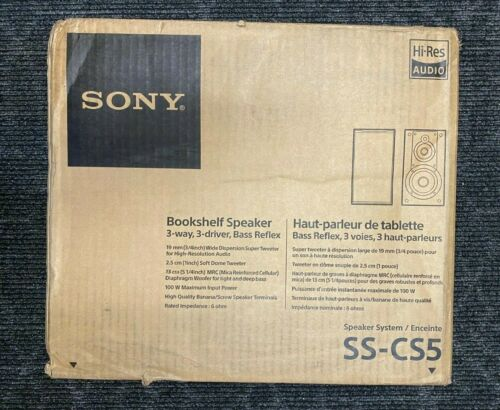 "Sony - Core Series 5""3 Way Bookshelf Speakers (Pair) - Brand New - Free Shipping"