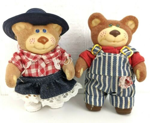 Vintage 80s Furskins Country Bears Bubba & Cece Figurine Toy Lot