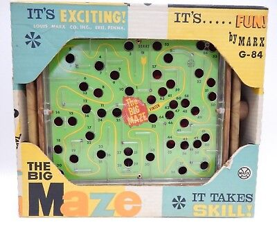 Vintage The Big Maze in Original Box by Louis Marx Toys - Big Maze