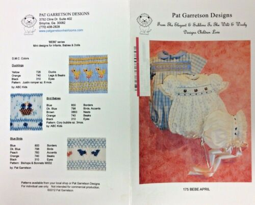 PAT GARRETSON SMOCKING PLATE #175 BEBE APRIL