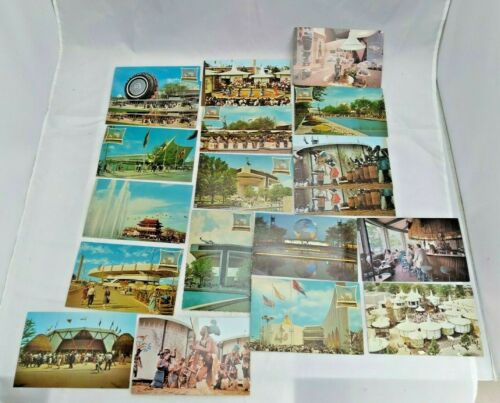 19 x Postcards Worlds Fair New York 1964-65 Unposted