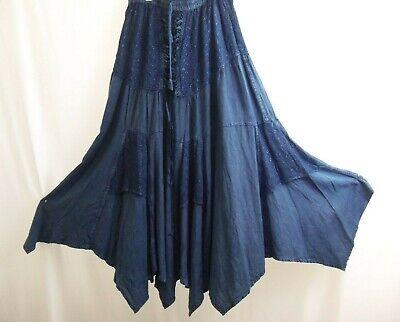 Karma Circle 100% Rayon Blue Hippie/Boho/Gypsy Skirt, Size Free Size