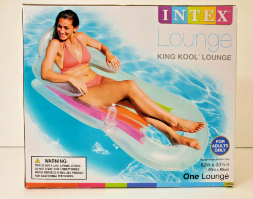 Intex Lounge King Kool Pool Float with Headrest & Cupholder for Adult