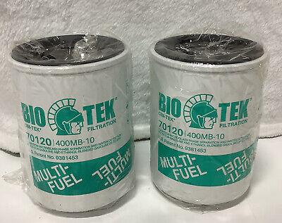 Qty 2new Bio Tek Filtration Cim-tek 70120 400mb-10 Filter Ships Free