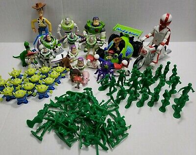 "Disney Pixar Toy Story Action Figures Toy Lot of 80 Pieces 1""- 6"" military alien"