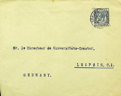 CYPRUS 1930 KG V 2½p ON COVER TO LEIPZIG GERMANY
