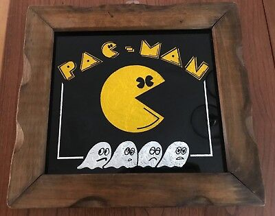 Pac-Man Foil Art Framed Retro Wall Art - 11.5