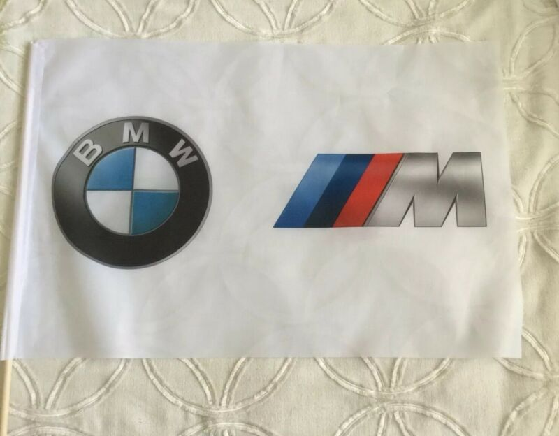 BMW  M Motorsport Promo Flag Banner On The Stick Pole From Race Track