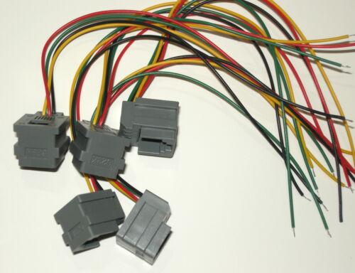 Lot of 5 Modular Jacks with leads RJ11 RJ14 wiring 6P4C, 623K, Jack, RJ-11 LOOK