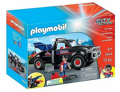 PLAYMOBIL 5664 Tow Truck City Action Ages 4+ New Toy Boys Girls Play Car Gift