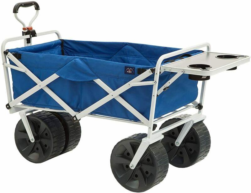 Mac Sports Heavy Duty Folding Terrain Utility Beach Wagon Cart - U.S. Stock -