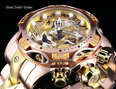 Invicta 52mm Reserve LION Venom Gen III Swiss Two Tone Rose Gold Bracelet Watch