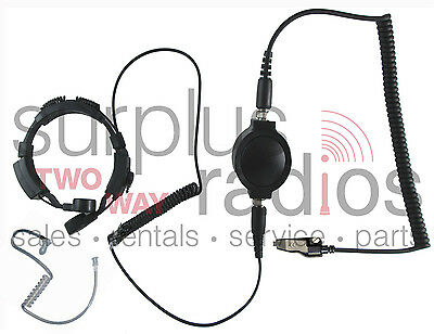 New Throat Mic Headset For Kenwood Radio Tk280 Tk380 Tk3180 Tk2180 Tk2140 Tk3140