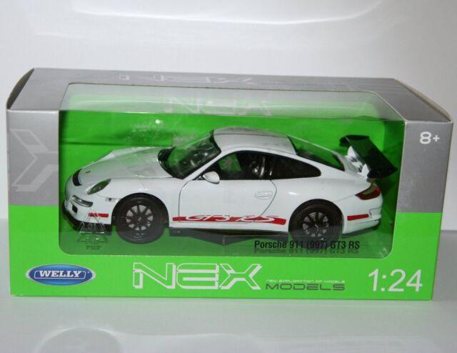 Welly - PORSCHE 911 GT3 RS (997) White - Die Cast Model Scale 1:24