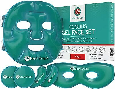 Cooling Gel Eye Mask - Anti Ageing Dry Cold Face Mask Wrinkles Tired Eyes Relief
