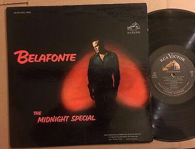 Harry Belafonte Original Rca Living Stereo Lp The Midnight Special Vg  Bob Dylan