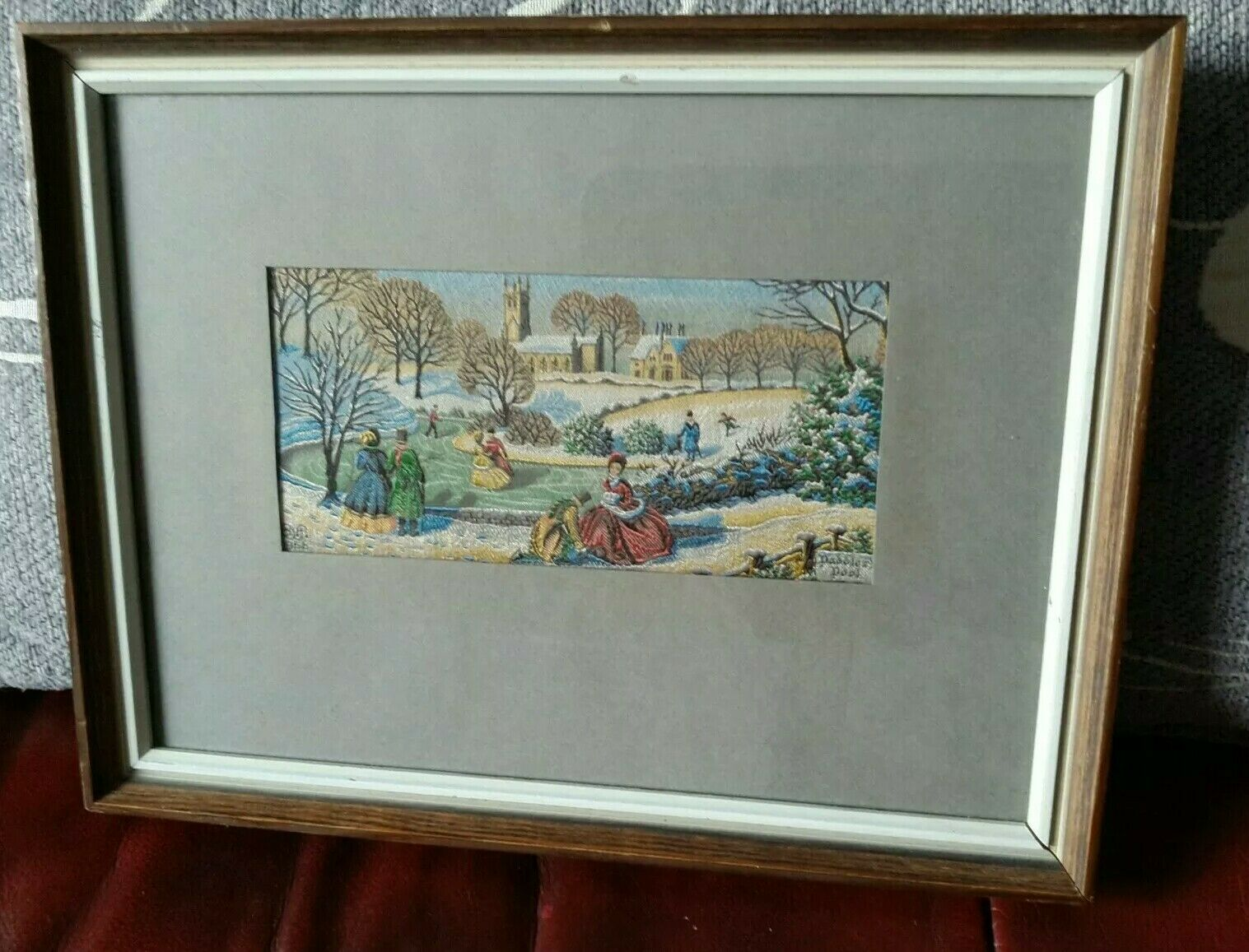 "Vintage Picture*1956*""Paddlers Pool""*Hurdsfield Church*victorian snow scene*"