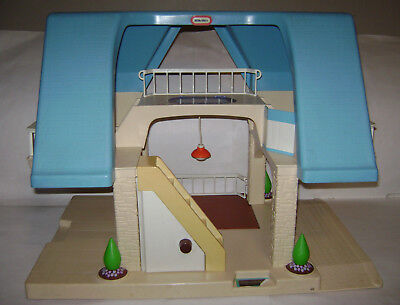 Vintage Little Tikes Blue Roof Doll House Sturdy Child Size VERY RARE