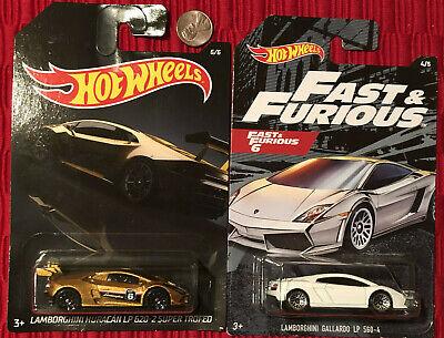 Hot Wheels Lamborghini Huracan LP 620-2 Super Trofeo Fast Furious Gallardo Gold