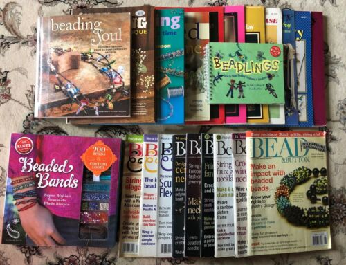 Vintage Beading Pattern Books, Magazines, Kit 1971 - 2012