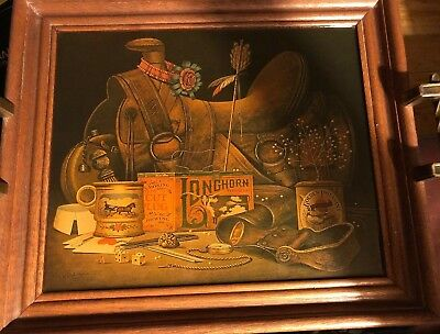 Cowboy Western  Lacquered Lithograph Serving Tray  Art By Charles Wysocki