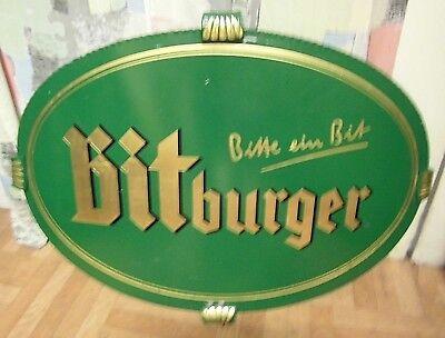 Bitburger Werbeschild Eisen Bier Brauerei Werbung 62x44