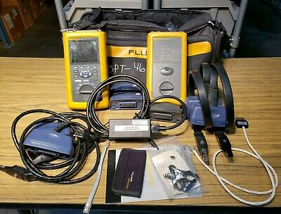 Fluke Dsp-4100 Analyzer Dsp-4100sr Remote W Multiple Adapters For Parts