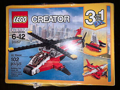 Lego 31057 CREATOR Air Blazer Helicopter Boat Plane 3 In 1 Set NEW