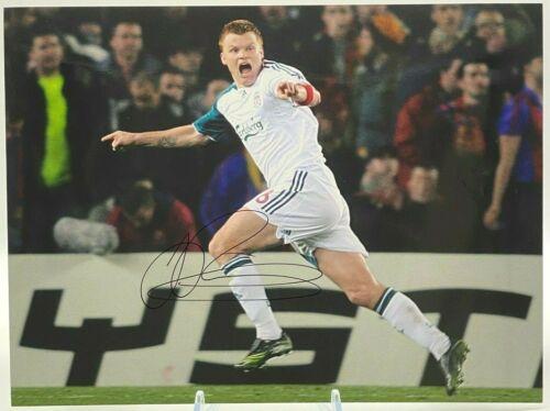 John Arne Riise LIVERPOOL FC SIGNED 16x12 Photo AFTAL OnlineCOA