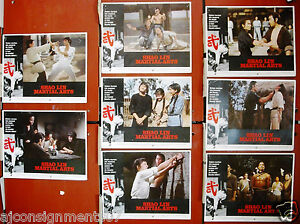 Set-of-8-Shaolin-Martial-Arts-Kuan-Chun-Chi-Kung-Fu-Hong-Kong-Lobby-Card-70s