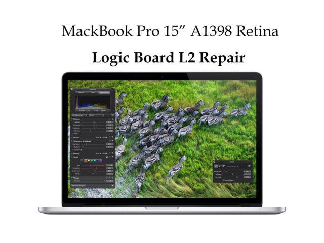 """MacBook Pro 15"""" Retina A1398 Laptop Logic Board Repair Service"""