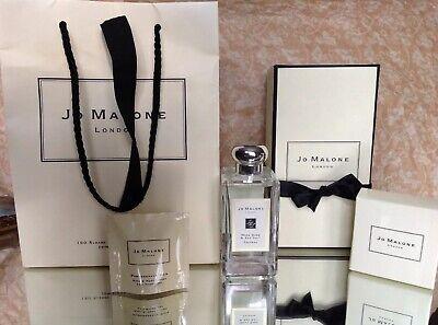 "JO MALONE LONDON ""WOOD SAGE & SEA SALT"" LARGE 100ML COLOGNE SPRAY NIB & BAG"