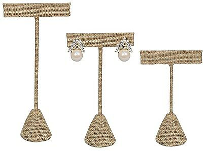 Display Jewelry Showcase Stands - MODERN BURLAP EARRING DISPLAY T STAND DISPLAY SHOWCASE JEWELRY DISPLAY <DEAL>
