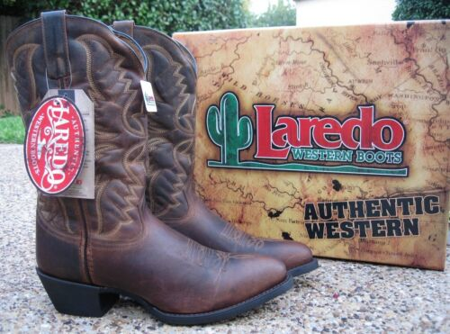 NEW, Mens, Laredo, Birchwood, Tan, Distress, Leather, Western, Cowboy, Boots, Style, 68452