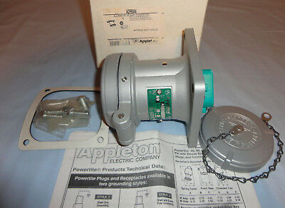 Appleton Pinsleeve Adr6044 Receptacle 60a 4w4p Powertite New